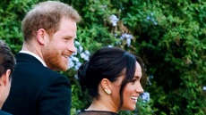 Prince Harry and Meghan Markle wear all black while attending a wedding in rome
