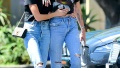 Miley Cyrus Wearing a Black T-Shirt With Kaitlynn Carter in LA