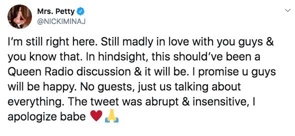 Nicki Minaj Tweeting About Retirement