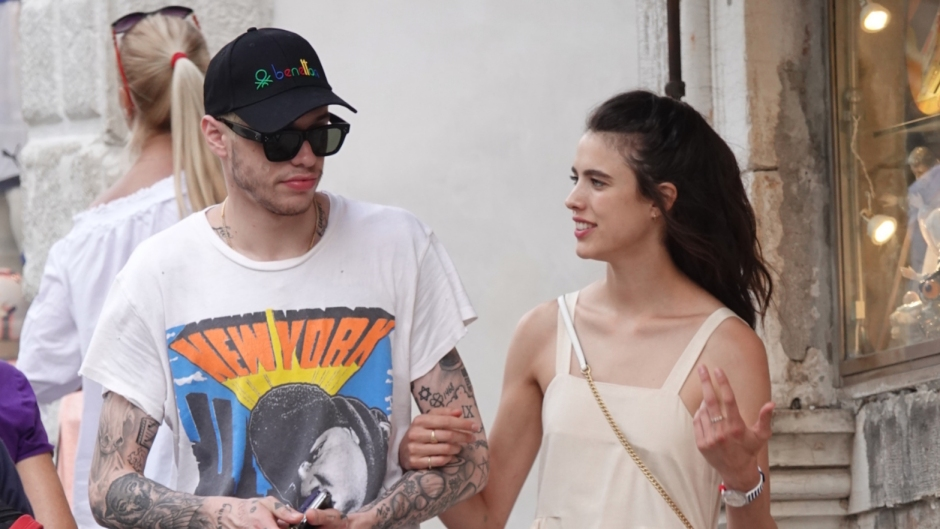 Pete Davidson and Margaret Qualley Walk Hand in Hand in Venice, Italy