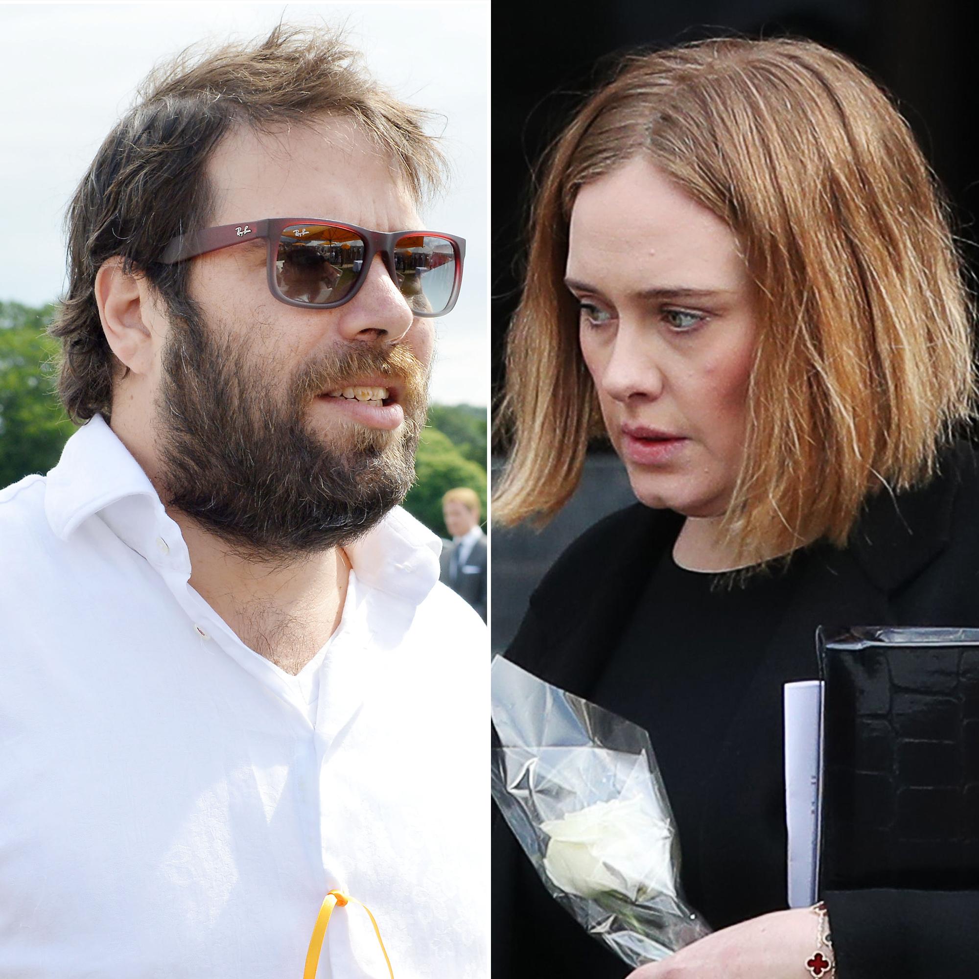 Image result for images of Adele files for divorce from estranged husband, Simon Konecki