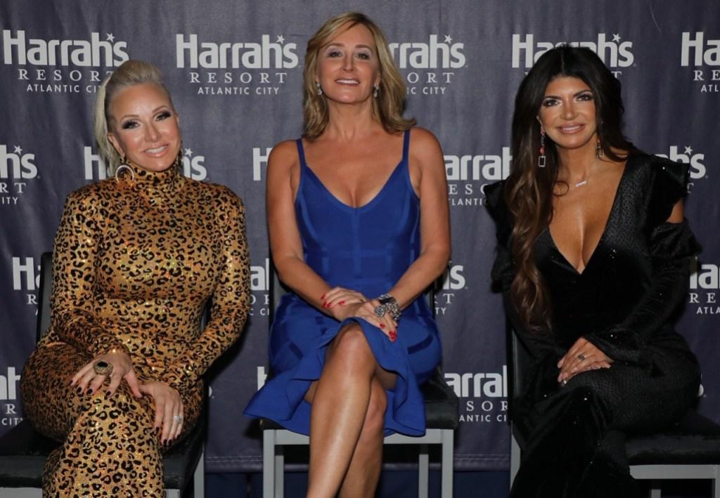 Teresa Giudice Wearing All Black With Sonja Morgan and Margaret Josephs at Atlantic City