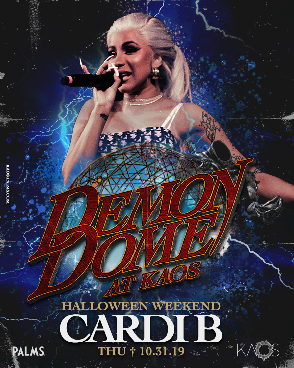 cardi b to perform on halloween at kaos dome