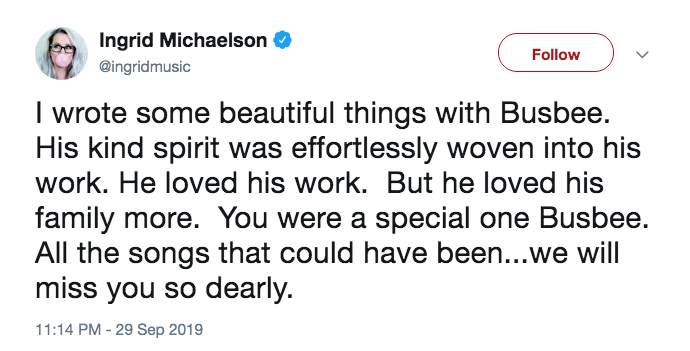 Gone Too Soon — Celebrities Mourn Music Producer Busbee on Social Media After His Untimely Death