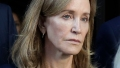 actress felicity huffman leaves court room after receiving 14 day prison sentence in college admissions scandal