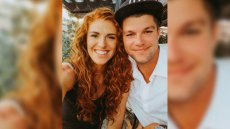 former little people big world star audrey roloff wears a black tank top and husband jeremy roloff wears white button up shirt and a baseball hat in couples' selfie audrey celebrates fifth year wedding anniversary with tribute to jeremy