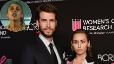 Miley Cyrus and Liam Hemsworth when they were married