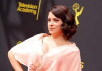 rachel bloom in a pink dress at the 71st Annual Primetime Creative Arts Emmy Awards