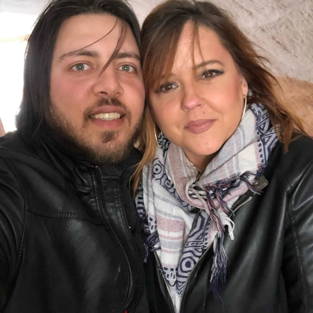 90 day fiance stars rebecca and zied both wear matching black leather jackets as they pose for a cute couple's selife 90 day fiance star rebecca slams zied's abuse claims from fans