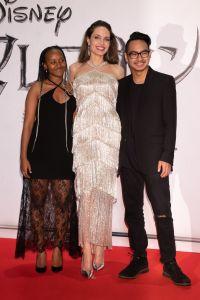 Angelina Jolie With Maddox and Zahara in Japan Smiling