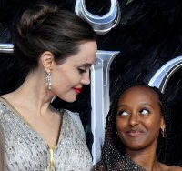 Angelina Jolie Attends London Maleficent Premiere With Her