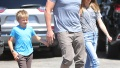 Ben Affleck With His 2 Kids Walking Around