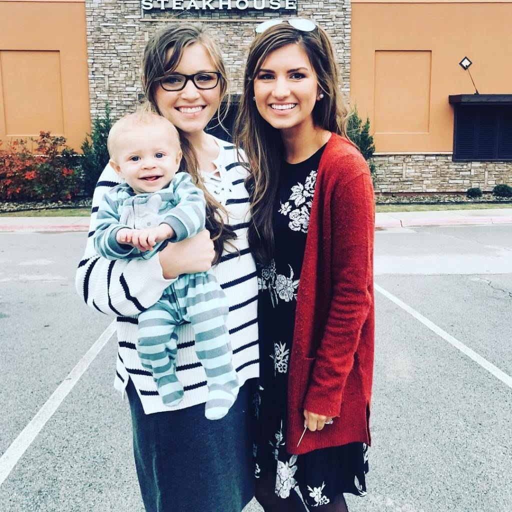 Joy-Anna Duggar Holds Gideon While Smiling With Carlin Bates