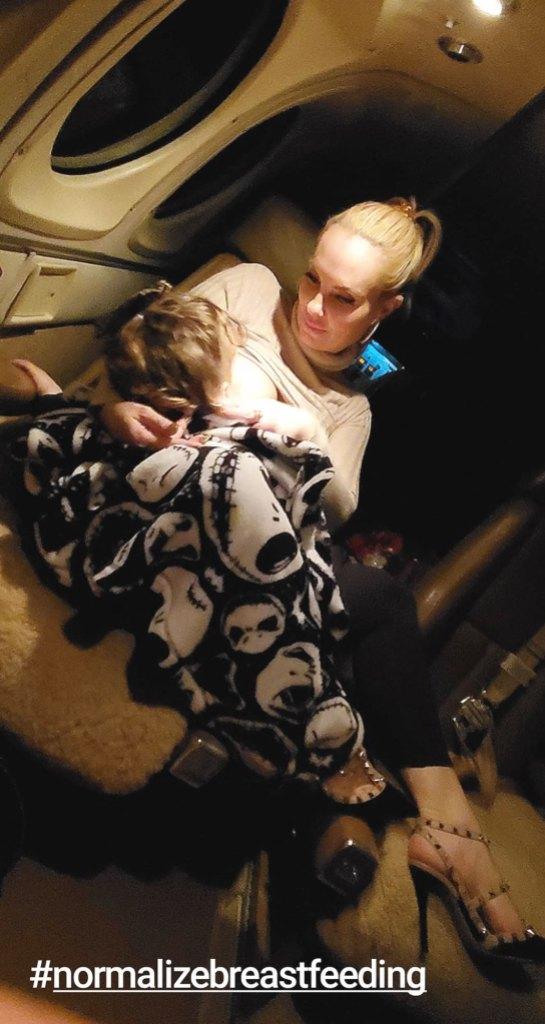 Coco Austin Breastfeeding Chanel Self Weens