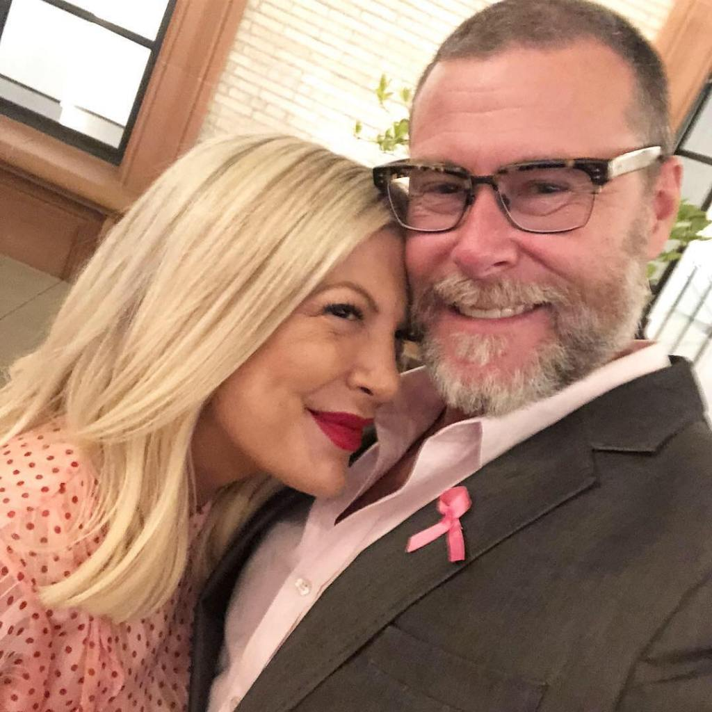 Dean and Tori Spelling Giving Each Other a Cute Look