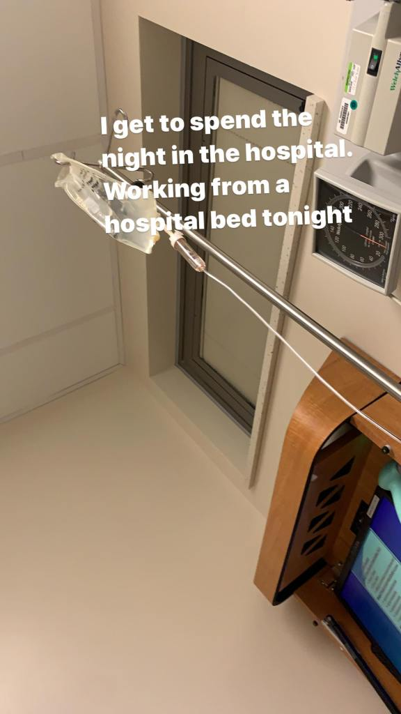Elizabeth Woods In the Hospital