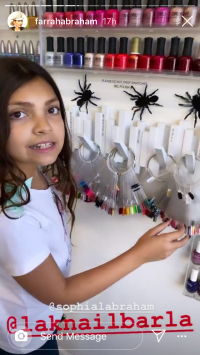 Sophia Abraham Picking Out a Nail Color