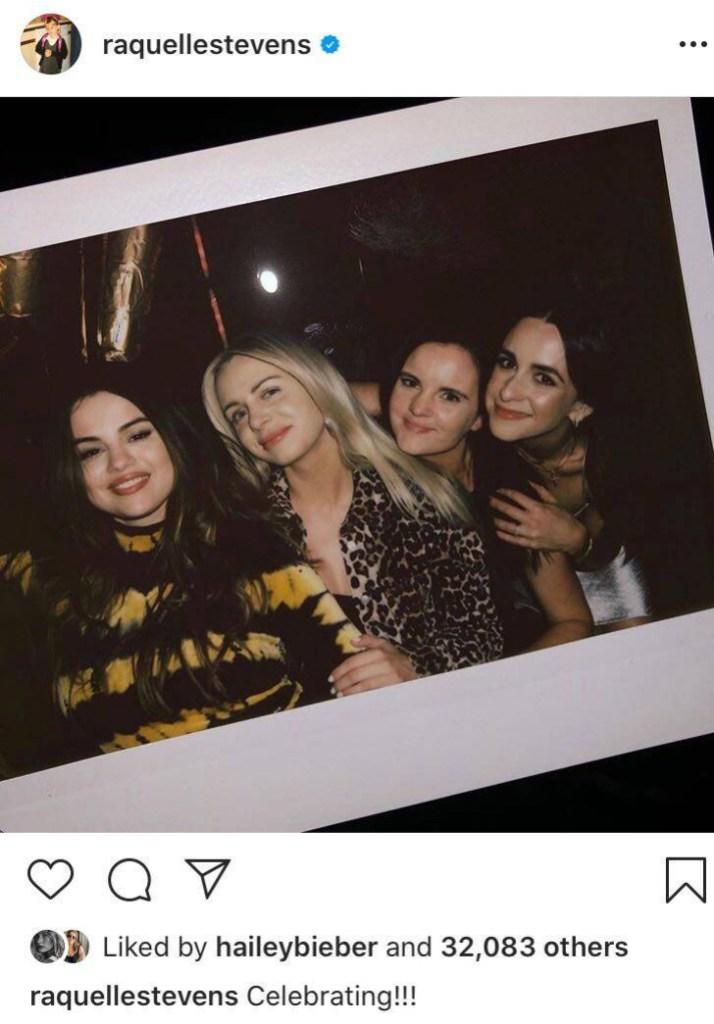 Hailey Baldwin Likes Photo Selena Gomez Celebrating New Song