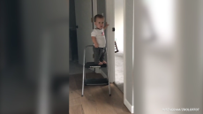 Jackson Roloff Opens a Door and Turns on Lights on Instagram