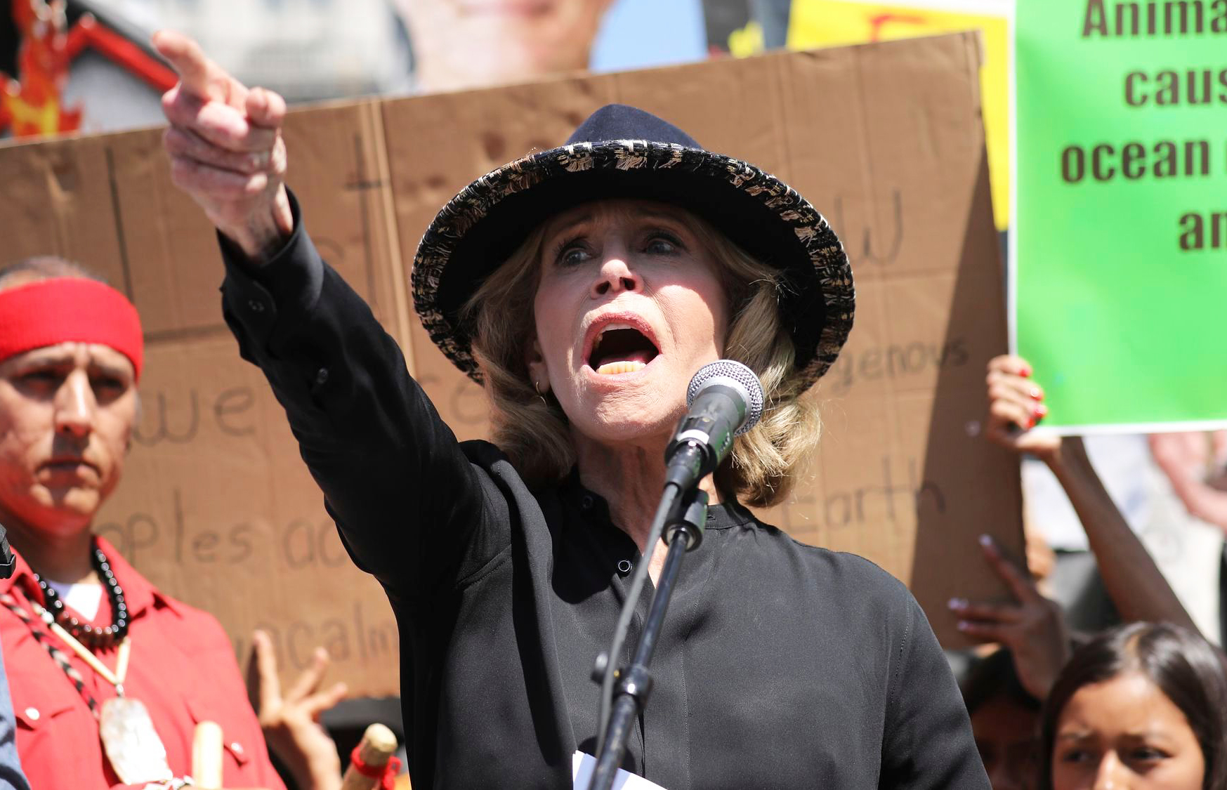 Jane Fonda Arrested at a Climate Change Rally Outside of the Capitol Building