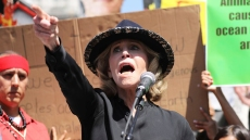 Jane Fonda Arrested Climate Change Rally Outside Capital Building
