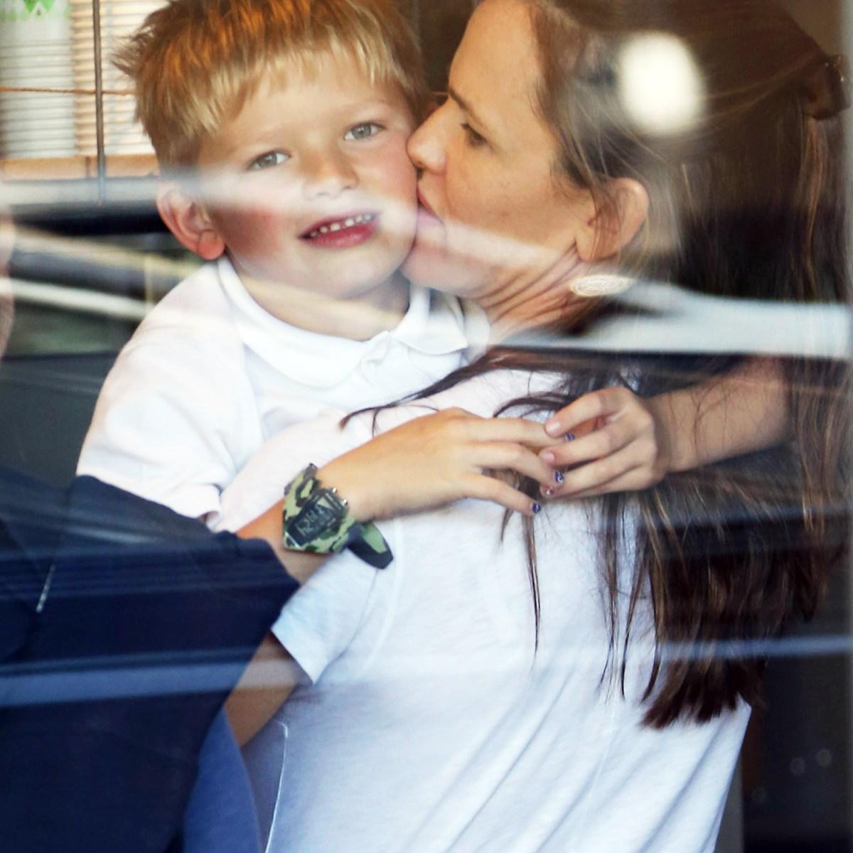 Twinning! Jennifer Garner and Son Samuel Wear Matching Outfits While Running Errands