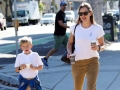 Jennifer Garner Son Samuel Wear Matching Outfits While Running Errands