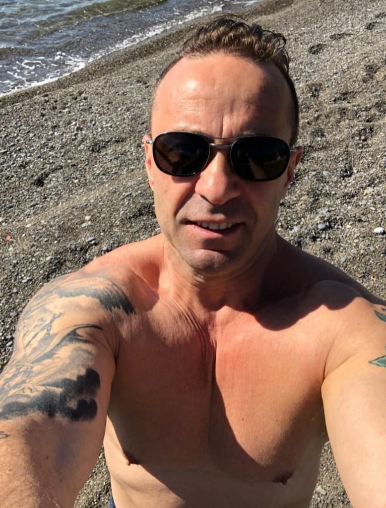 Joe Giudice's Body Transformation Beach Water