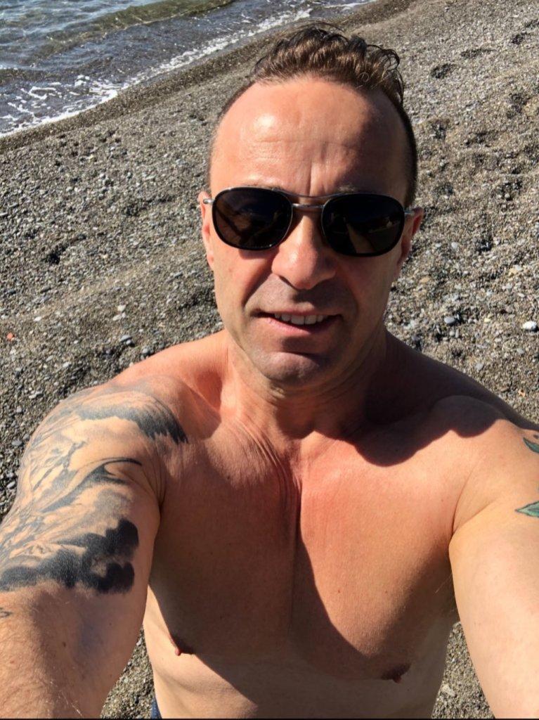 Joe Giudice Looks Happy Healthy Beach Italy
