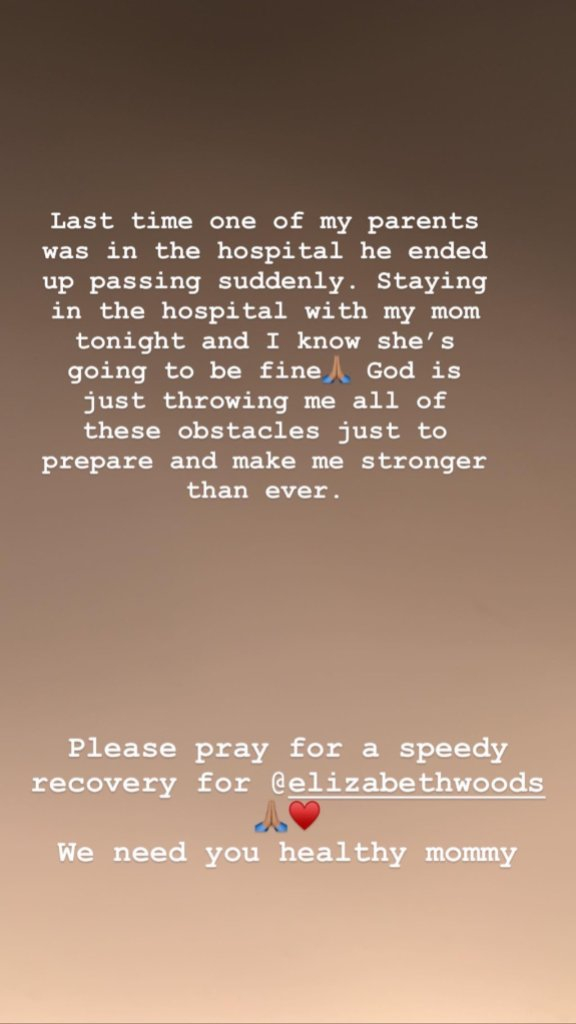 Jordyn Woods Revealing Her Mom is in the Hospital