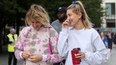 Justin Bieber and Hailey Baldwin wearing sweats in London
