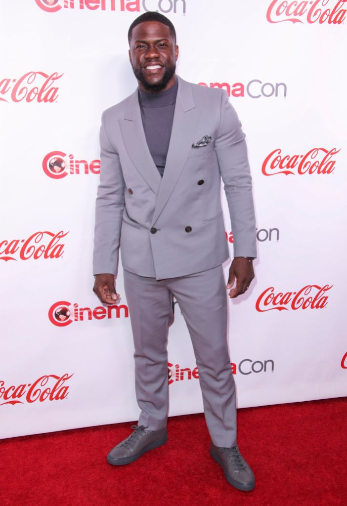 Kevin Hart Wears a Suit at a Red Carpet Event