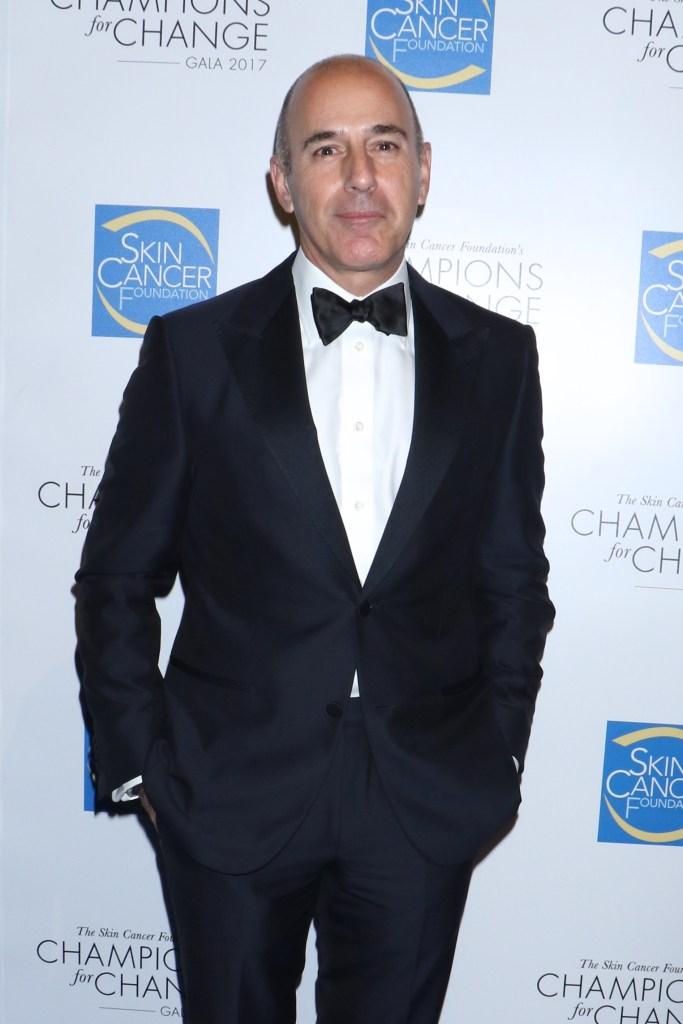 Matt Lauer Wearing a Tuxedo
