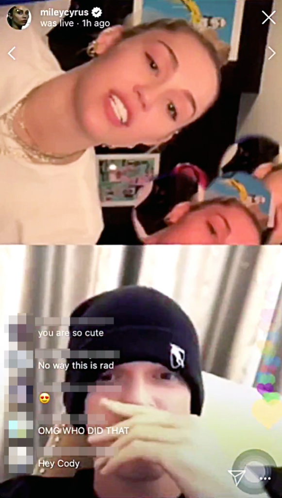 Miley Cyrus Shades Ex Liam During IG Live