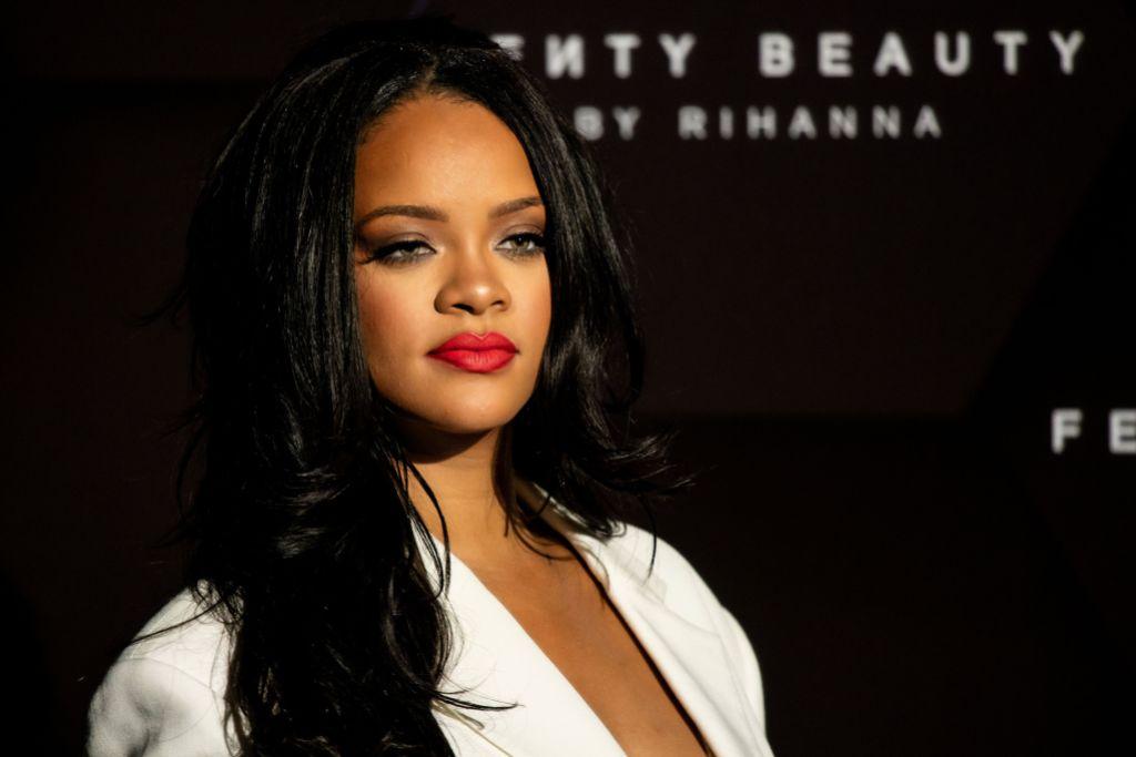Rihanna Wearing a White Top
