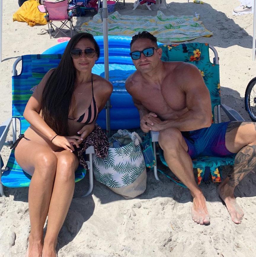 Sammi Giancola and Christian Biscardi Beach Jersey Shore