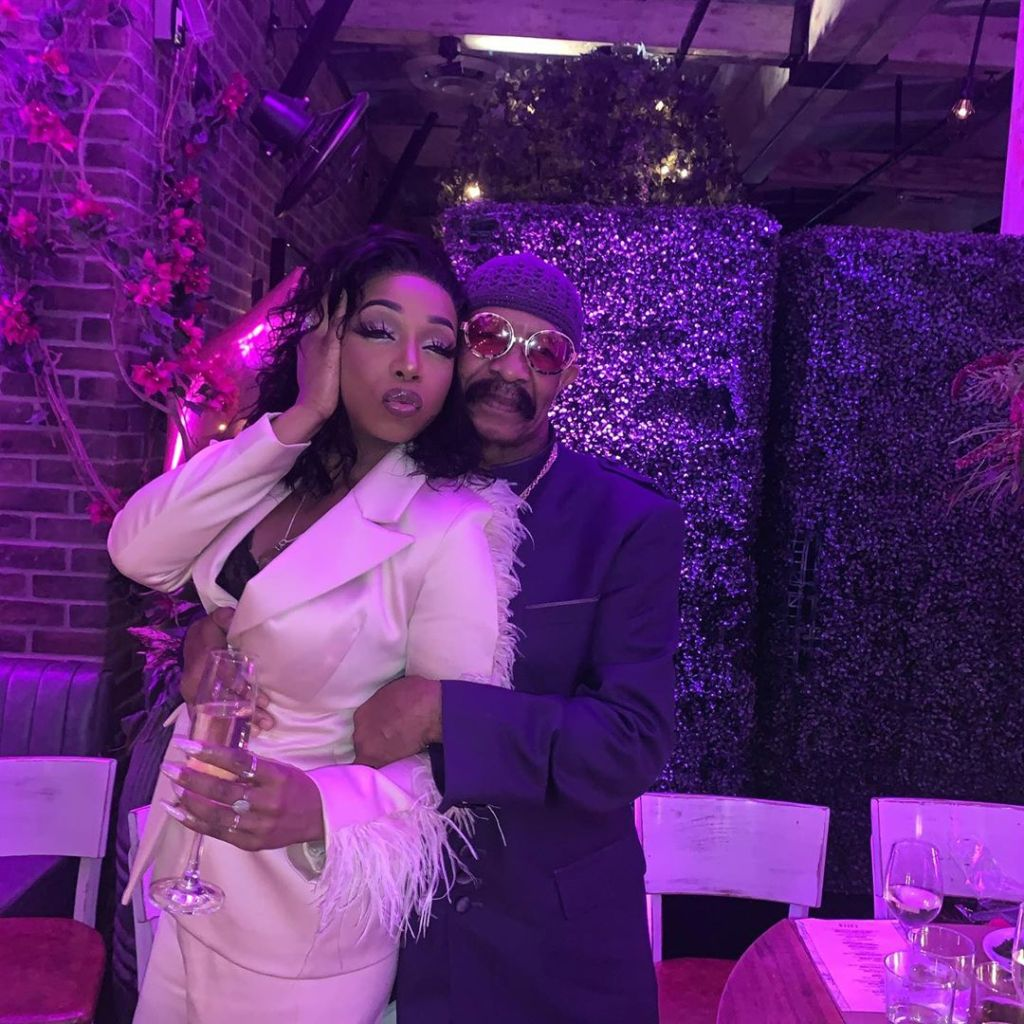 Step Aside, Flavor Flav! Tiffany 'New York' Pollard Cozies Up to Drake's Dad Dennis Graham