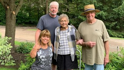 amy roloff and fiance chris marek with her parents
