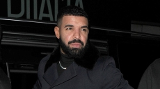 drake wears all black ensemble rapper drake shares rare photo of his son adonis' birthday party