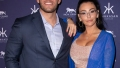 jersey shore star jenni jwoww farley wears a nude two piece outfit under a blue sweater and her exboyfriend zack carpinello wears a light blue button down shirt with a navy blue suit jwoww exboyfriend zack apology