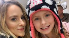 leah messer and her daughter selfie