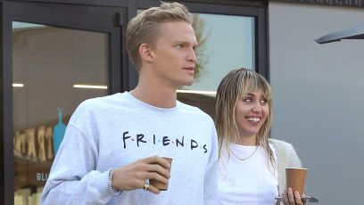 Miley Cyrus and Cody Simpson Getting Coffee