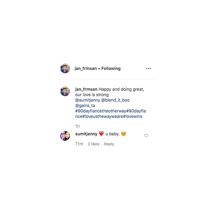 90 Day Fiance Stars Jenny and Sumit Get Flirty on Instagram