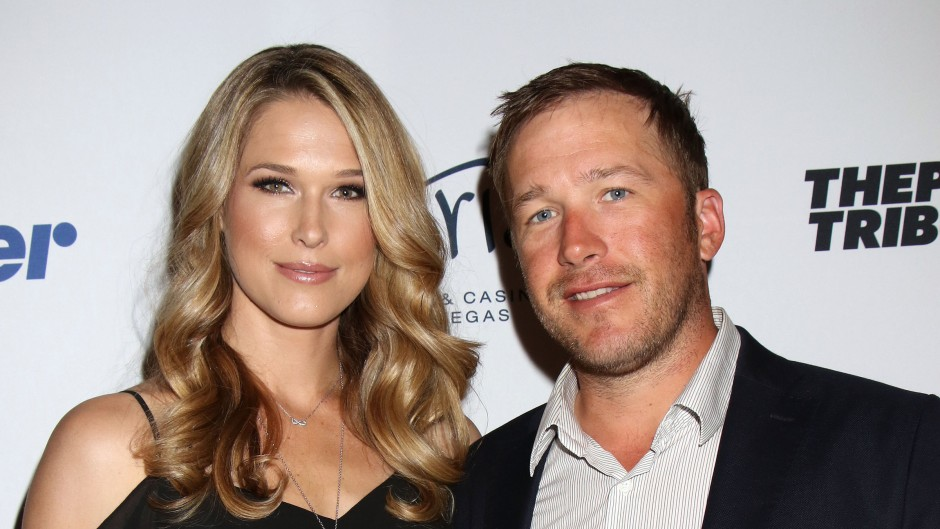 Bode Miller Wearing a Suit With His Wife