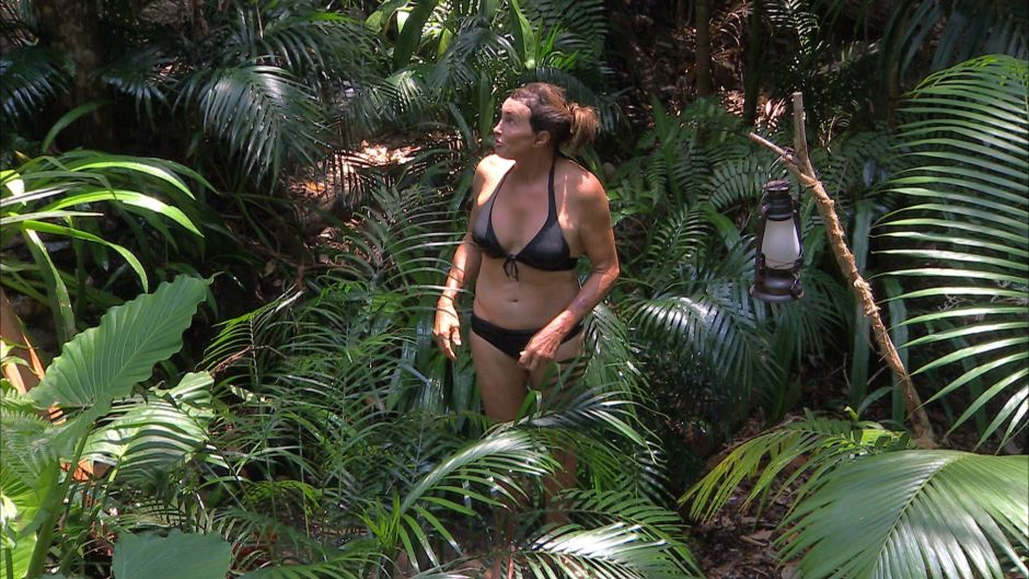 Caitlyn Jenner Wearing a Black Bikini During I'm a Celebrity Get Me Out of Here in Australia