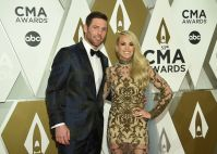 Carrie Underwood With Her Husband at the CMAs