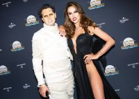 Darren Dzienciol and Alessandra Ambrosio at Horror In The Hills Party