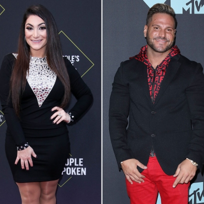 Side-by-Side Photos of Deena Cortese and Ronnie Ortiz-Magro