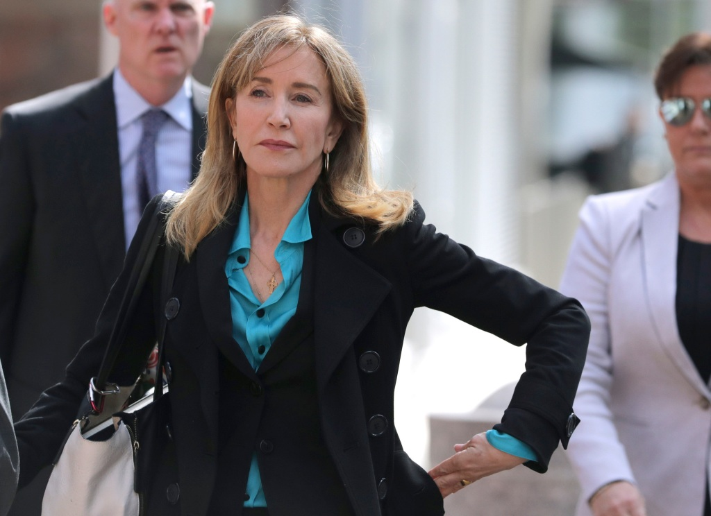Felicity Huffman Outside of Court