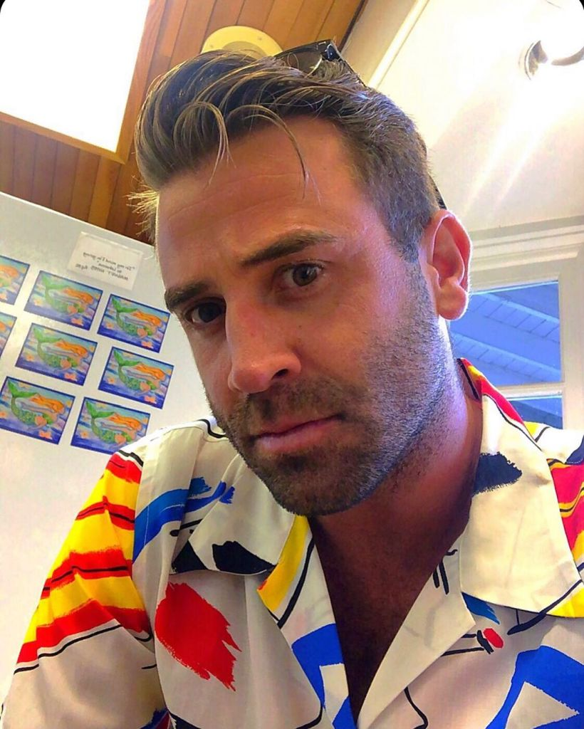 Jason Wahler Wearing a Colored Shirt on Instagram